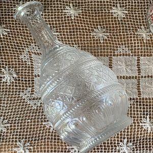 Clear embossed design vase